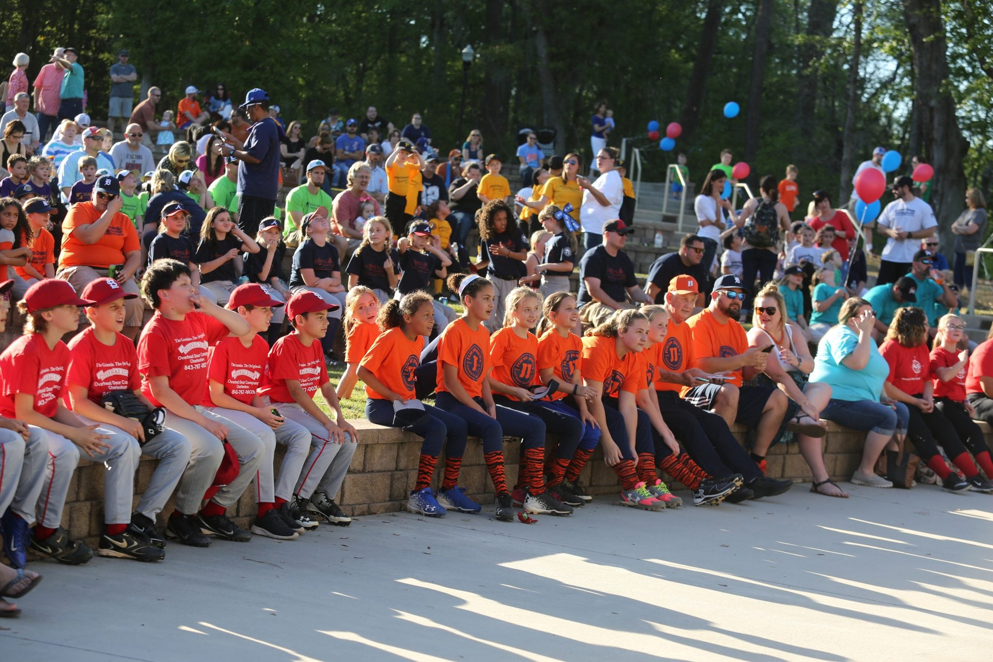 Kids waiting to see their teams