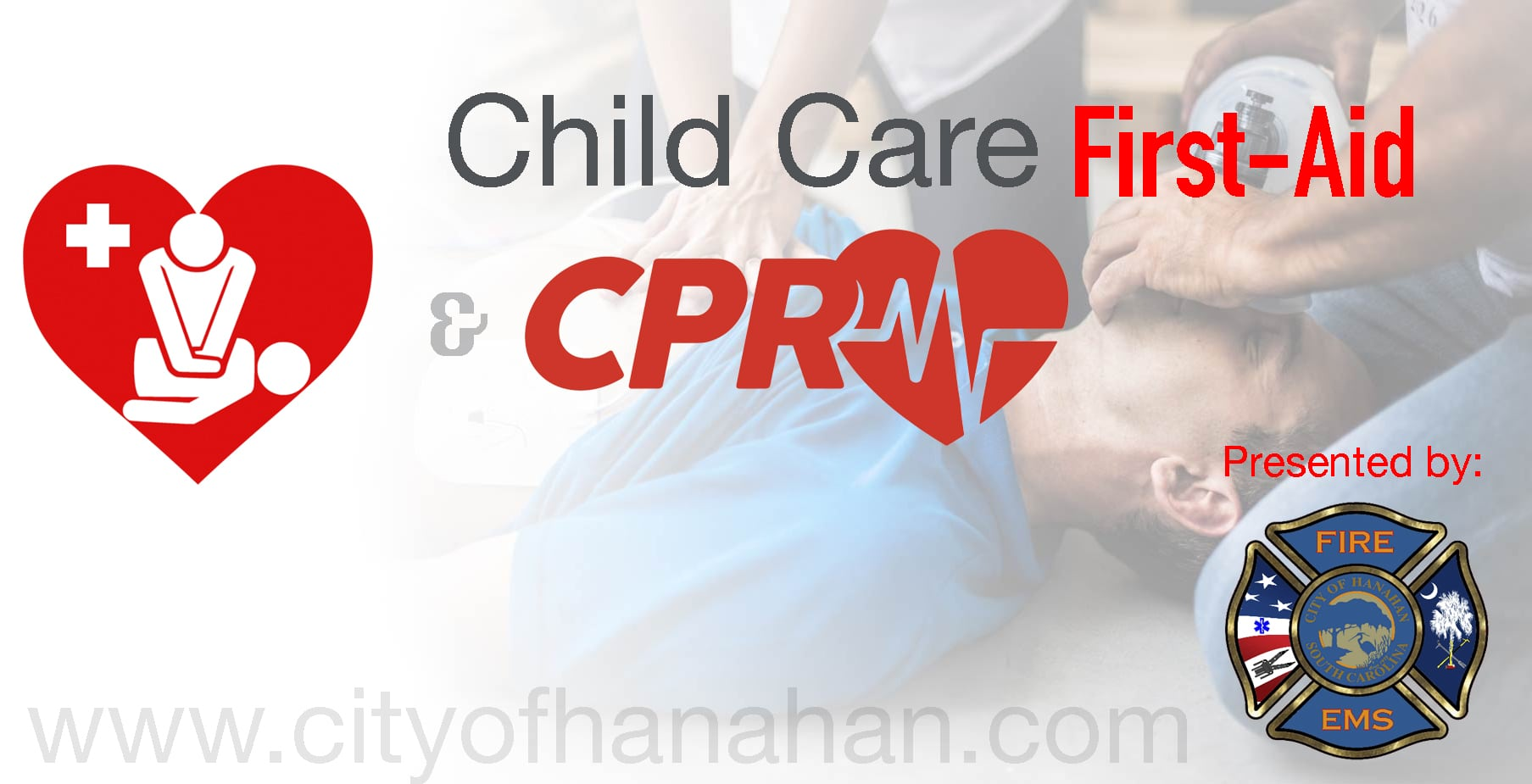 Child Care First Aid Cpr Training City Of Hanahan