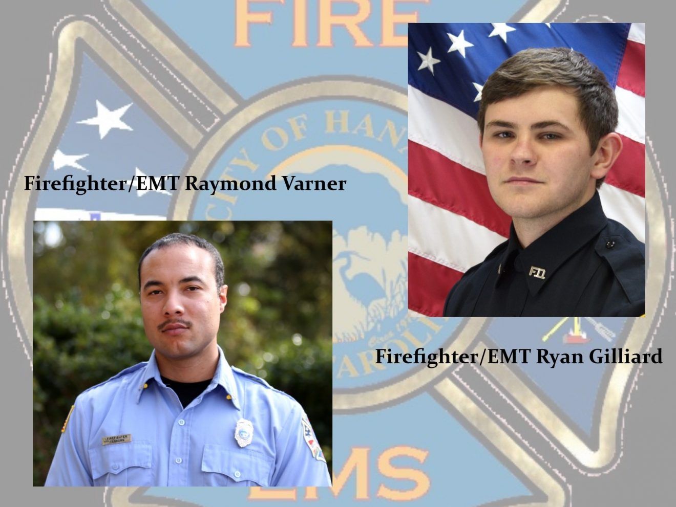 Two Hanahan Firefighters recently promoted to Firefighter