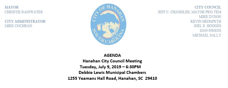 July 9, 2019 Council Meeting Agenda