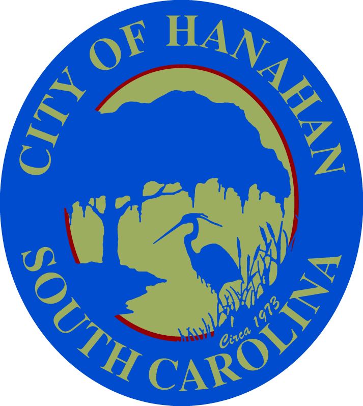 City of Hanahan South Carolina Seal. A Tree and a Bird are also present