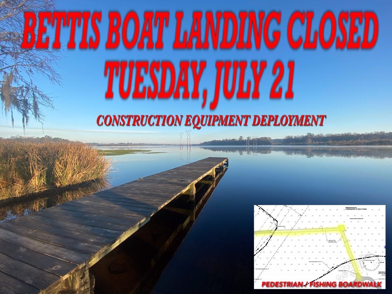Boat Landing Closed July 21st