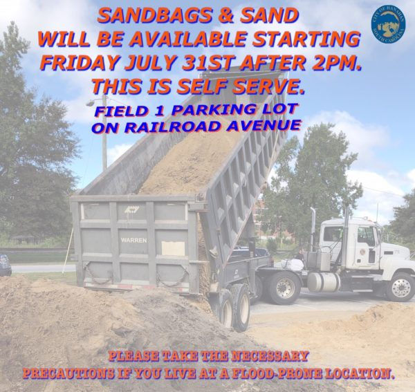 Sandbags and Sand available on RailRoad avenue