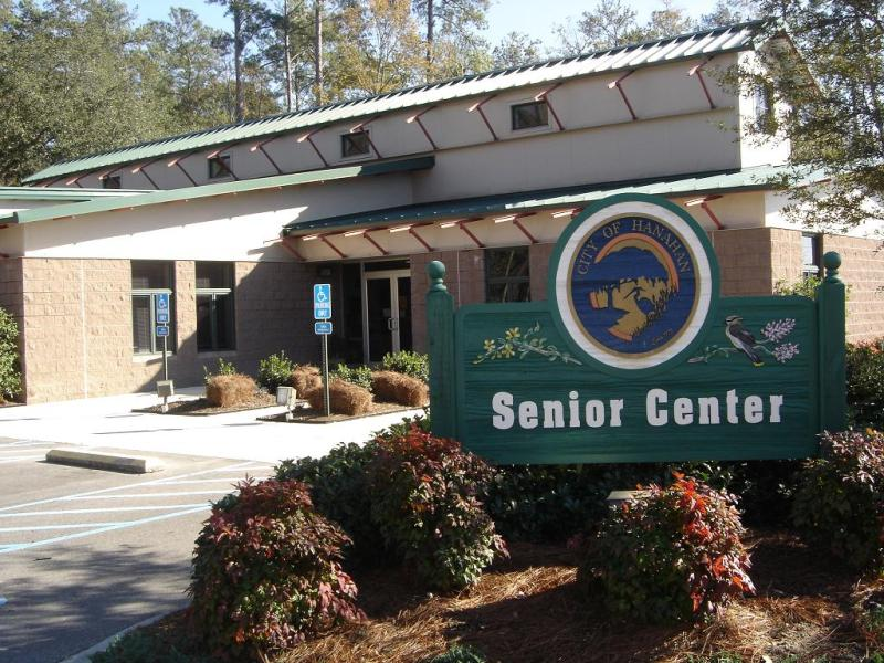 Front of the Hanahan Senior Center Building