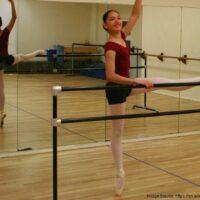 A woman doing ballet