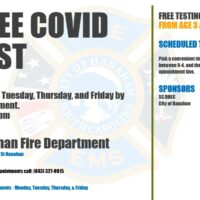 Free Covid Testing at Hanahan Fire Department