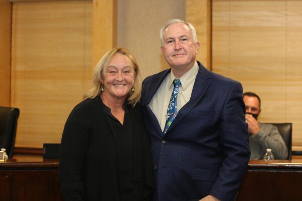 Councilman Boggs after being sworn in